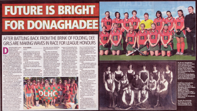 Double page spread in the Belfast Telegraph, 5th November 2014