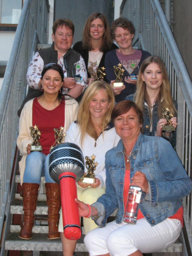 A few of the 13/14 prize winners at Donaghadee Ladies Hockey Club's End of Season Do which was held in The Moat last Saturday. From top left: Siobhan McAdam (Overall Contribution to DLHC), Alison Lawther (1st XI Players' Player of the Year), Carolyn Scott (1st XI Top Goalscorer and Overall Contribution to DLHC) Middle: Maura Hennessey (2nd XI Top Goalscorer and Captain's Player of the Year), Kerrie Turtle (1st XI Most Improved Player), Jan Morrow (2nd XI Most Improved Player) Front: Jill Dennison (Team Contribution)