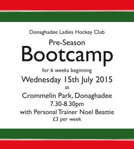 2015/16 Pre-season bootcamp details