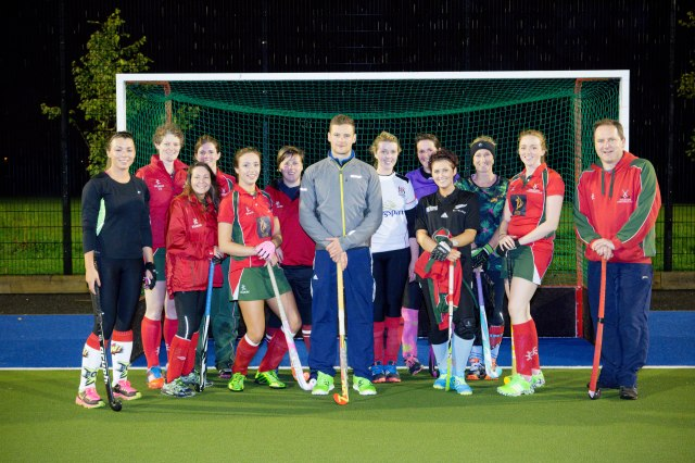 DLHC 1XI and 2XI defenders with Ireland international Jonny Bell