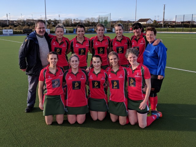 DLHC 1XI v Kilkeel, 4 November 2017 Back row (l-r): Brian McKee (Coach), Leanna Young, Paige Reilly, Ali Stevenson, Amy Long, Claire Stewart, Siobhan McAdam Front row (l-r): Kerry Kennedy, Emma McGimpsey, Helen Hooks, Catherine Armstrong, Carolyn Scott