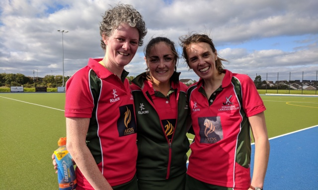 Carolyn, Sarah-Louise and Kerry were on target against Enniskillen