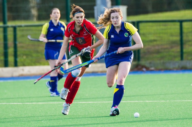 Captain Kerry Kennedy in action against Bangor