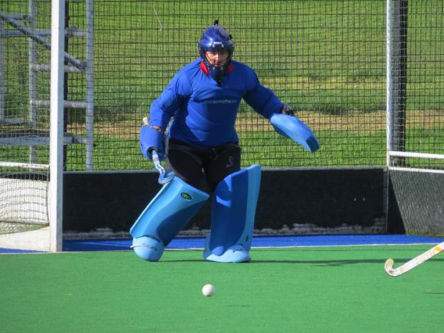 DLHC 1XI keeper Siobhan McAdam made several good saves on Friday night