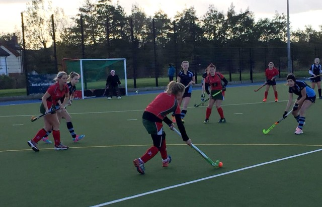Action from the 2XI's match against Dromore 4XI