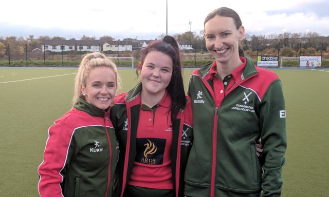 Ruth, Vicky and Emily (twice) were on target against Bangor