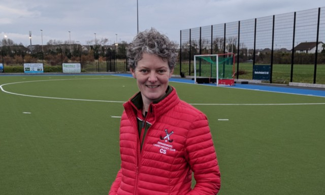 Carolyn with both goals against South Antrim on Saturday